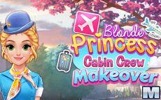 Blonde Princess Cabin Crew Makeover